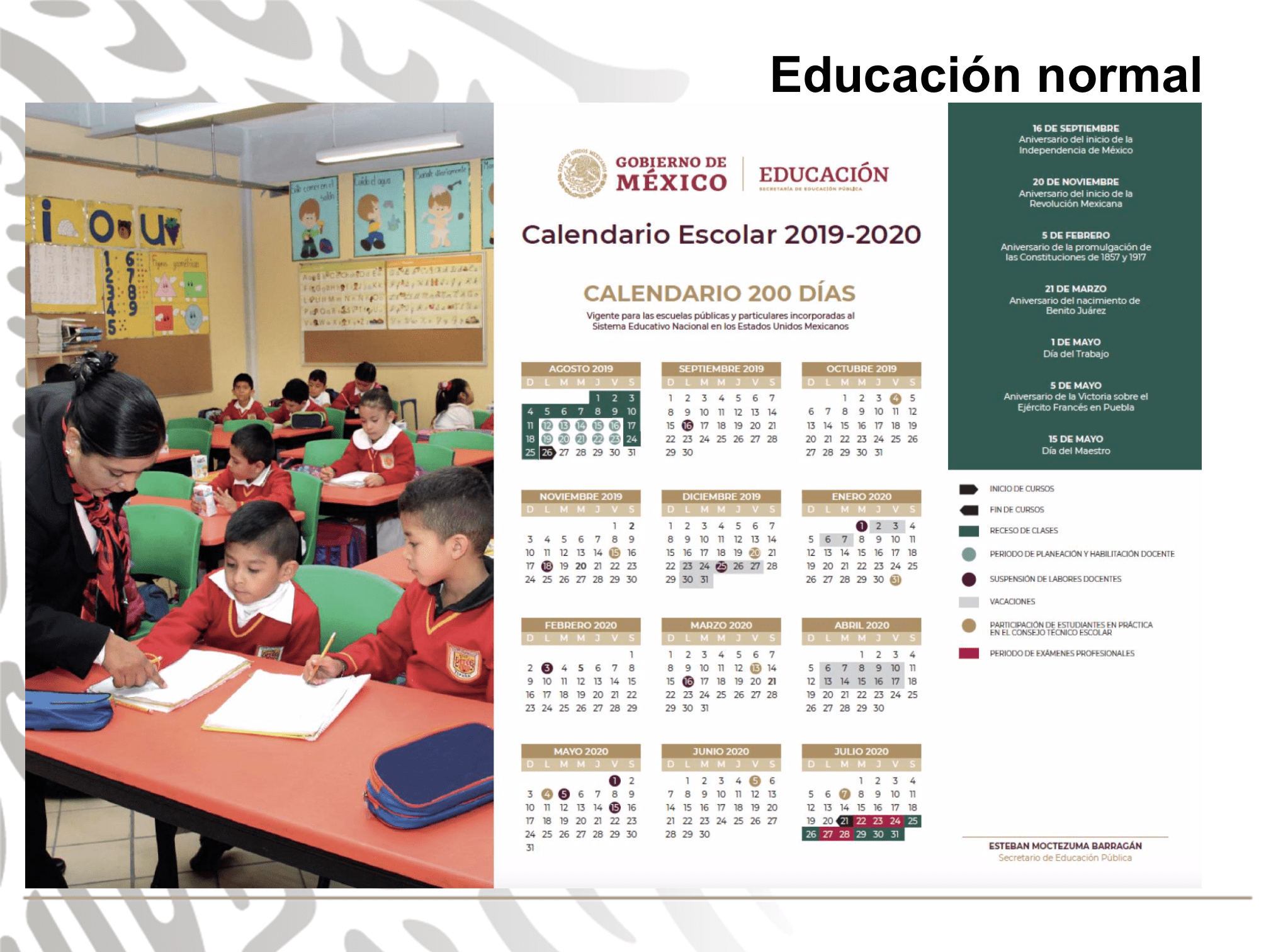 Calendario Escolar 2020 Sep Oficial.Sep Presenta Calendario Escolar 2019 2020 Centro Noticias